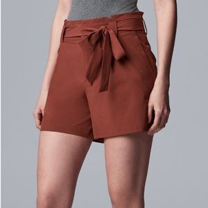 Simply Vera Vera Wang Paper bag Waist Shorts